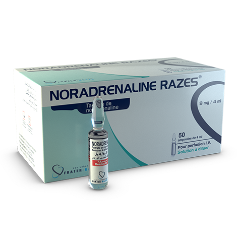 Noradrénaline Razes ® 8MG-4ML
